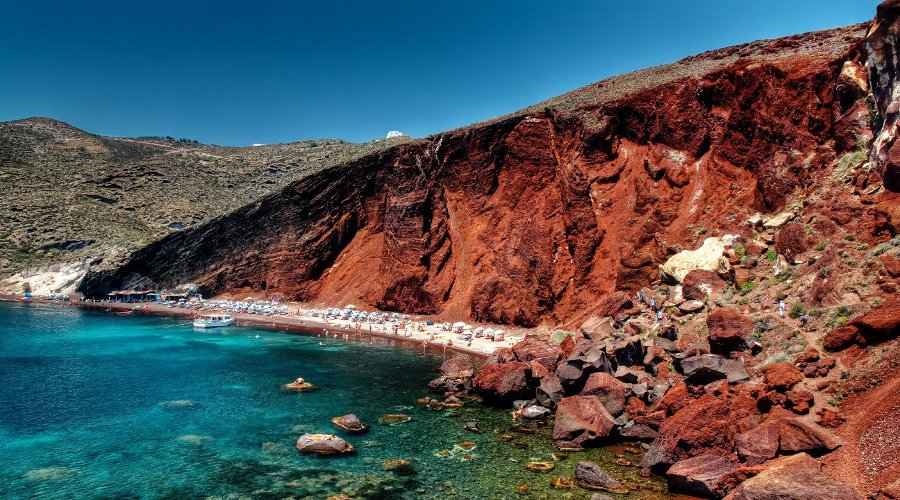 Akrotiri, Red Beach and Oia