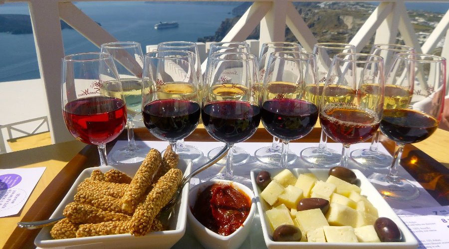 Wine Trail, lunch and Oia